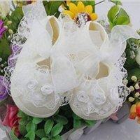 Wholesale Infant Shoe Laces - Wholesale- Non-Slip Princess Girls Infant Baby Toddler Shoes Lace First Walkers Princess Baby Shoes 3 Colors LT01
