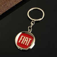Wholesale new style car keys for sale - Group buy NEW Blue or Red Metal Car Logo keychain Chaveiro Llavero keyring for Fiat Key Chain Ring Key Holder Car Styling s gift