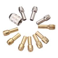Wholesale Brass Shank - 10Pcs Brass Drill Bit Chucks Collet Bits 0.5-3.2mm 4.3mm Shank with Screw Nut for Dremel Power Tool Accessories
