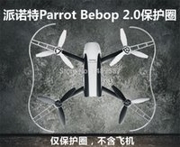 pervane muhafazası toptan satış-Toptan-Yeni Pervane Prop Koruyucu Guard Tampon Koruyucu Rc Drone Papağan Bebop 2.0 Quadcopter için Beyaz Kırmızı Hızlı Shiping