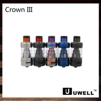 Wholesale Wholesale Metal Crowns - Uwell Crown 3 Sub-Ohm Tank 5ml Crown III Top Fill Design with Twist Off Cap Atomizer Triple Airflow Slots Quartz Glass Tank 100% Original