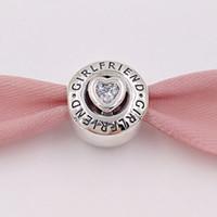 ingrosso in argento sterlina pandora 14k charms-Autentico 925 Sterling Silver Beads Fascino Charm Charm Adatto per gioielli stile europeo Pandora Collana bracciali 792145CZ