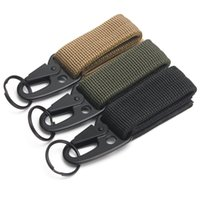 Wholesale Survival Backpacks - Outdoor Camping Military Tactical Nylon Belt Metal Hanging Carabiner Backpack Hook Clasp Survival Gear keychain outdoor tools