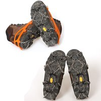 Wholesale Snow Ice Crampons - 8-Stud Universal Ice Non-slip Snow Shoe Boot Spikes Grips Cleats Crampons Winter Climbing Anti-slip Shoes Cover (2 Color)