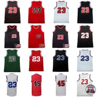 quality jd achat en gros de-Hommes Retro Michael Jerseys # 45 # 23 JD 100% Stitched Throwback Basketball Jerseys High Quality Mix Order Wholesale Hot Sale
