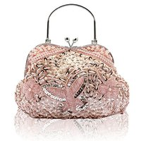 Wholesale Evening Satin Clutch Bag - Wholesale-The New Beaded Sequined Butterfly With chain Evening Bag, Ladies' Clutch bag,Bride bag Purse,Slap-up Gentle Party handbags 1891