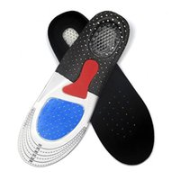 Tamanho livre Unisex Orthotic Arch Support Shoe Pad Sport Running Gel Insoles Insert Cushion para homens Mulheres Shock Asborption Foot Care ZA1608