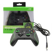 Wholesale Computer Game Handle - 10pcs Game Controller Gamepad USB Wired Game Control game handle gamepad PC Joypad Joystick Accessory For Xbox One Laptop computer PC Games