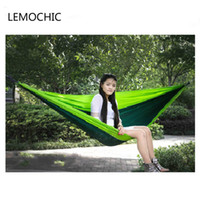 Wholesale furniture bearing - Wholesale- High quality Best seller Big size Load bearing Portable Sleeping Hammock for Outdoor Camping Picnic Hammock Home Furniture