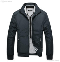 Wholesale Mens Stand Up Collar Coat - Fall-New 2016 Jacket Men Fashion Casual Loose Outdoor Men Jacket Sportswear Bomber Jacket Mens jackets and Coats Stand-up collar Top