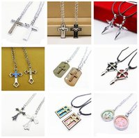 Wholesale Order Asian Fashion - Free shipping Student Valentine 's Day gift pendant fashion items decorated cruise necklace WFN043 (with chain) mix order 1set=2 pieces