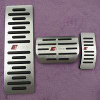 Car Accessories Gas Brake Foot Rest Fuel Pedals pad For AUDI S4 RS4 A5 S5 RS5 8T A6 4G S6 (C7) Q5 S5 RS5 A7 S7 SQ5 8R LHD 2009 +