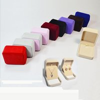 Wholesale Earring Packing Boxes - Velvet jewelry Packing Boxes, Necklace Earrings Ring displays case, trinket boxes ,Pendant box Jewelry Gift Boxes 7x8x4cm