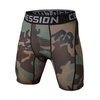 Wholesale Skins Compression Wholesale - Wholesale-New Camouflage Quick Dry Men Tight Skin Compression Shorts 9 colors style Comfortable