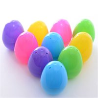 Wholesale New Egg Cases - Wholesale- New 6pcs Colorful Easter Party Eggs Gift Jell Plastic Candy Box Case Decor Filled Eggs for Easter Eggs #LN