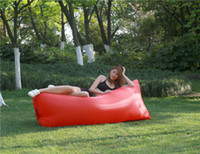 Wholesale inflatable mattress camping for sale - Group buy Camping Sofa Sleeping lay bag Fast Inflatable banana inflatable mattress sleeping bag lazy bag Camping party music Festiva mat padl