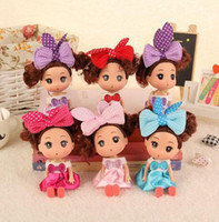 Wholesale Ddung Doll Fashion - 12cm Doll for Mini Ddung Dolls with Brown Bun Hair Baking Mold Girl Toys,Confused doll accessories for barbie,toys for girls