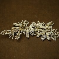 бисером волосы диадемы оптовых-beijia высокого класса золотой бисером горный хрусталь свадьба тиара волос гребень свадебный клип аксессуары для женщин головной убор