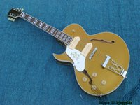 Wholesale Hollow Body Goldtop - Left Handed Guitars Goldtop 137 Hollow Jazz Guitar New Arrival Wholesale Guitars Best Selling
