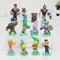 Wholesale Q Kid - 12pcs set Furuta Choco Egg The Legend of Zelda PVC Action Figure Toys Dolls Brinquedos For Children Kids Boys Girls Q Version