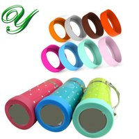 Wholesale Silicone Sleeve Cups - Silicone insulation pad for thermos cup mug nonslip coaster scratch-resistant bottle holder coloful sleeves protection 60-75mm replacement