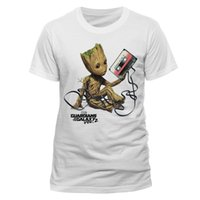 Wholesale Men S Red Galaxy Shirt - Guardians Of The Galaxy Vol 2 - Baby Groot Tangled Up In Cassette Tape T-shirt