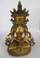 antike messing buddha-statue großhandel-Weihnachtsschmuck für Zuhause + Sehr großer Buddha !!! Hohe 19 Zoll antike Buddha Skulptur, alte tibetische Messing Buddha Statue A0001