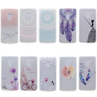 Wholesale Lenovo Mobiles Covers - Transparent TPU Cover For Lenovo K4 Note Case Fashion Tower bike Butterfly Girl Feather Design Mobile Phone Cases