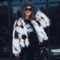 Wholesale Fur Imitation Vest - MisShow 2017 Winter Fashion Slim Faux Fur Coat For Womens Long Sleeve Warm Short Imitation Fur Jackets Plus Size 3XL Fur Vest FS3084