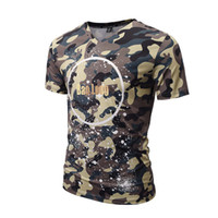 Wholesale 3d Designers Cheap - 2017 spring summer wear V-neck camouflage t-shirt 3d printed t-shirts designer cool high quality sweatshirt wholesale soft cheap tshirts