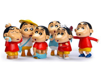 ingrosso giapponese in miniatura-Crayon Shin-chan miniature figurine giocattoli carino adorabile Modello Kids Toy 4cmPVC japan anime action figure per bambini