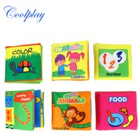 cartoon story books - 2017 Hot Intelligence Development Soft Cloth Fabric Cognize Quiet Book Educational Toy For Baby Infant Story Book