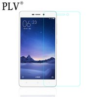Wholesale Screen Guard Retail Pack - Wholesale-For Xiaomi Redmi 3 Tempered glass Guard film 9H 0.26mm Ultra Thin Real Premium Screen Protector For Redmi3 Without Retail Pack
