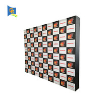 Wholesale Pop Up Stands - 10ft Fabric Pop up Display Banner Stand Tension Fabric Frame Exhibition Wall Stand for Trade Show with Graphic (with end caps)