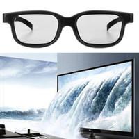 Wholesale Real D 3d Glasses - Wholesale- Circular Polarized Passive 3D Stereo Glasses Black For 3D TV Real D IMAX Cinemas