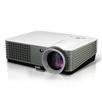 Wholesale video svga - Wholesale- New Home Theater Digital 2HDMI 2USB SVGA HD Video Multimedia Portable Led TV Projector long life lamp 50,000hrs cheap price