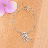 Wholesale Bracelet Dreamcatcher - New Fashion Dream Catcher Charm Bracelet For Women Gift Dreamcatcher Gold Color Silver Plated Jewelry