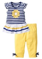 Wholesale Children Clothing Size 12 - baby girl set children 2 pieces clothes smmer short sleeved kids girl sets 2017 new size 80-140