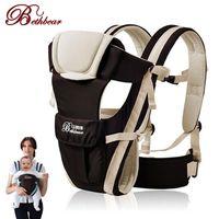 cabestrillo delantero al por mayor-Beth Bear 0-30 meses Transpirable Frente a la Porta Bebé 4 en 1 Infantil Cómoda mochila Mochila Bolsa de Bebé Canguro Nuevo NB