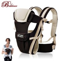 Wholesale wrap infant carrier - Beth Bear 0-30 Months Breathable Front Facing Baby Carrier 4 in 1 Infant Comfortable Sling Backpack Pouch Wrap Baby Kangaroo New NB