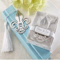 Wholesale Iris Pendant - Iris Bookmark With Tassel Metal Creative Gift Fashion Pendant Party Decor Wedding Favors Exquisite Box Packing 1 1tza F R