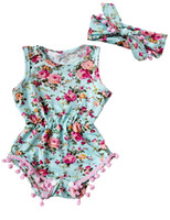 Wholesale 2017 Ins News Baby Summer Rompers Baby Girl Broken Flower Jumpsuit Newborn Soft Cotton Climb Rompers