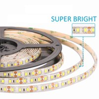 Wholesale High Brightness Led Strip 5m - High Brightness 5M 600led SMD 2835 LED Strip Non waterproof DC 12V Diode Tape 120led m Super Brighter than 3528 Flexible Light