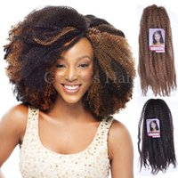 Cheap Afro Kinky Marley Braiding Hair 18 tresses en crochet afro kinky twist marley tresses extensions de cheveux synthétiques 18inch marley twist hair