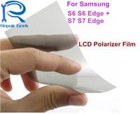 Wholesale Film Filter - LCD Polarizer Film For Samsung Galaxy S6 S6Edge S6 Edge Plus S6Edge + S7 S7 Edge S7 Edge Filter Polarizing Film Polaroid Polarization