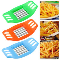 Wholesale Devices For Kitchen - Potato Chips Cut Cutter Stainless Steel Vegetable Square Slicer Cutting Device Cut Fries Kitchen Tool For French Fry Cutters