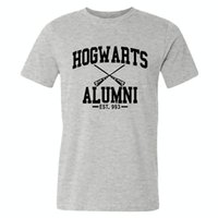 Wholesale Cotton Lycra Shirts Wholesale - New Novelty Design Hogwarts Alumni T Shirt Men Women Harry Funny Potter T-shirts Short Sleeve O-neck Cotton Tshirts S-XXXL