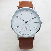 Wholesale Hot Sale Dresses For Work - Hot sale Dress Mens Luxury brand watch Leather & Stainless Steel band Quartz watches Small Diall Works Wristwatches For men man clock 2017