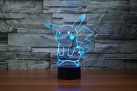 Wholesale Hot sell D lamp LED Night Light Pokeman D pokeball illusion night lamp table desk lamp home lighting