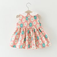 Wholesale Girls Leather Mini Skirts - Summer new children's skirt girls clothing cotton baby dress baby girl dresses